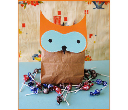 A whimsical Halloween goodie bag