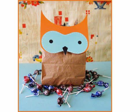 A whimsical Halloween goodie bag